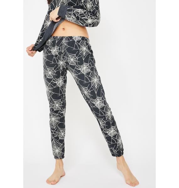 Wildfox Couture Black Widow Jogger Sweatpants