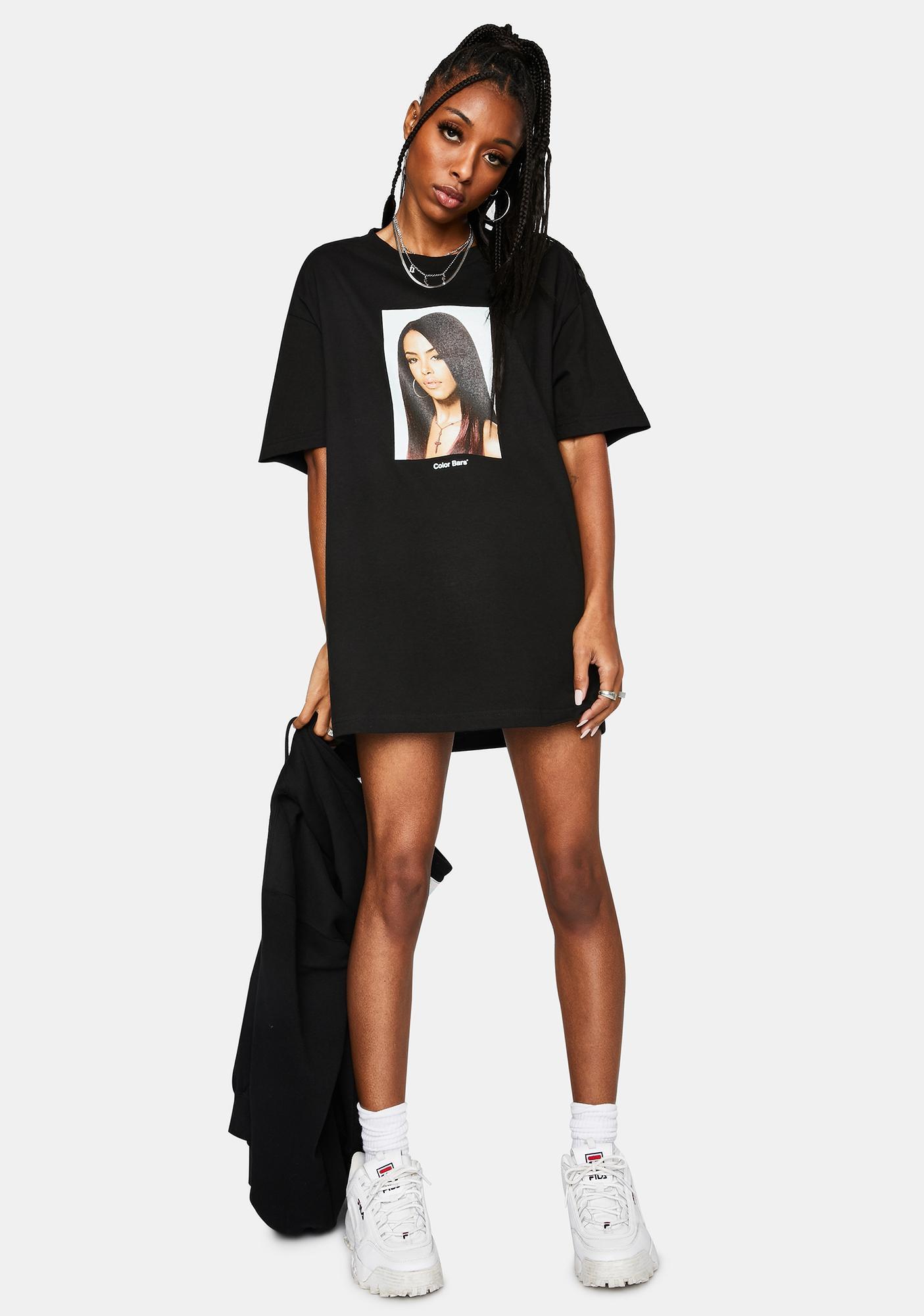 Color Bars x Aaliyah Portrait Tee