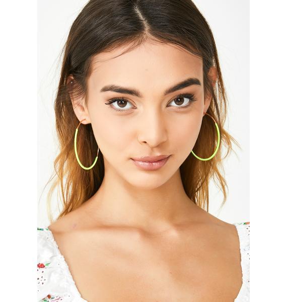 Lil Miss Thang Hoop Earrings