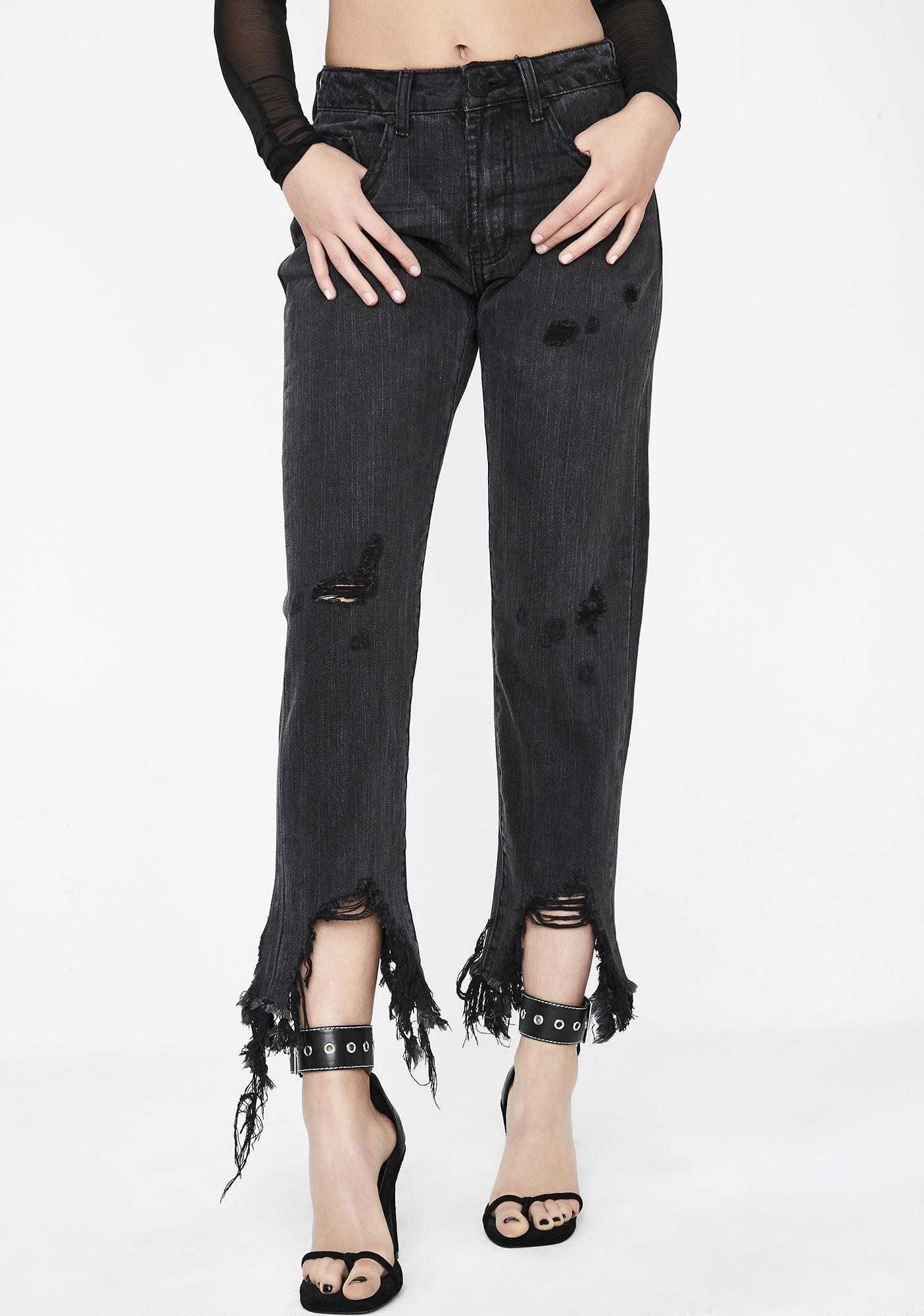 One Teaspoon Volcanic Awesome Baggies High Waist Jeans