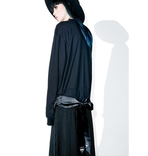 Morph8ne Black Twine Long Sleeve Top
