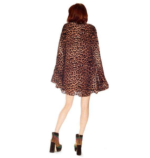 One Teaspoon Surrender Leopard Kimono