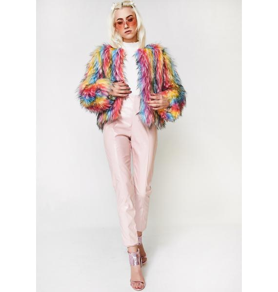 Ova The Rainbow Fur Jacket