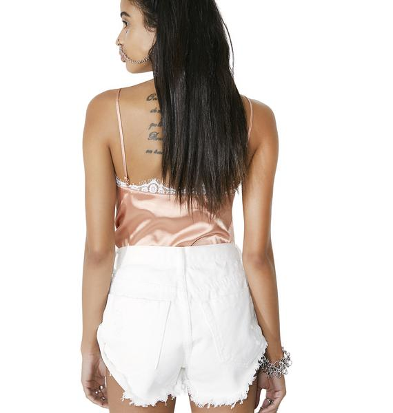 Glamorous Polar Distressed Denim Shorts