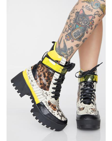 Freaky Funkwave Combat Boots
