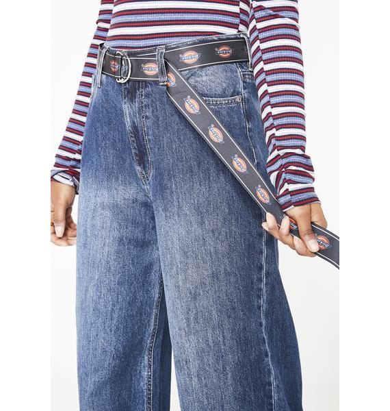 Dickies Girl Belted Wide Leg Skater Jeans