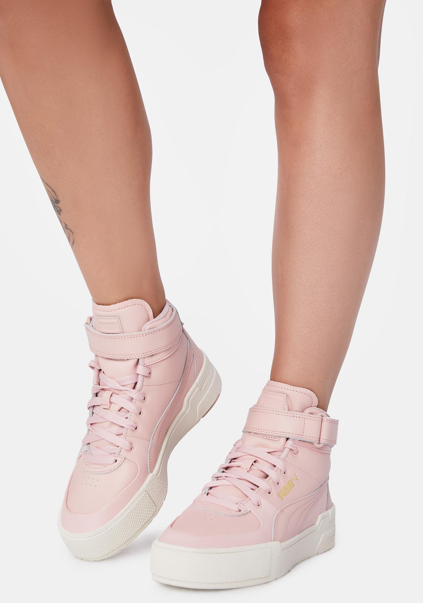 PUMA Pink Cali Sport Hi Top Sneakers