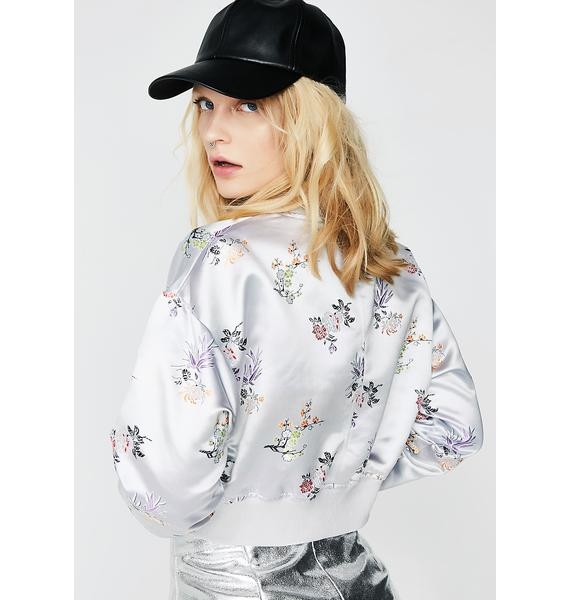 Take It Easy Floral Bomber Jacket