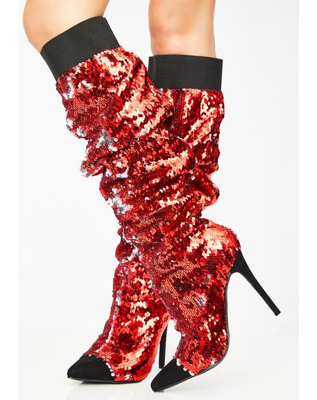 Fire Lavish Living Sequin Boots