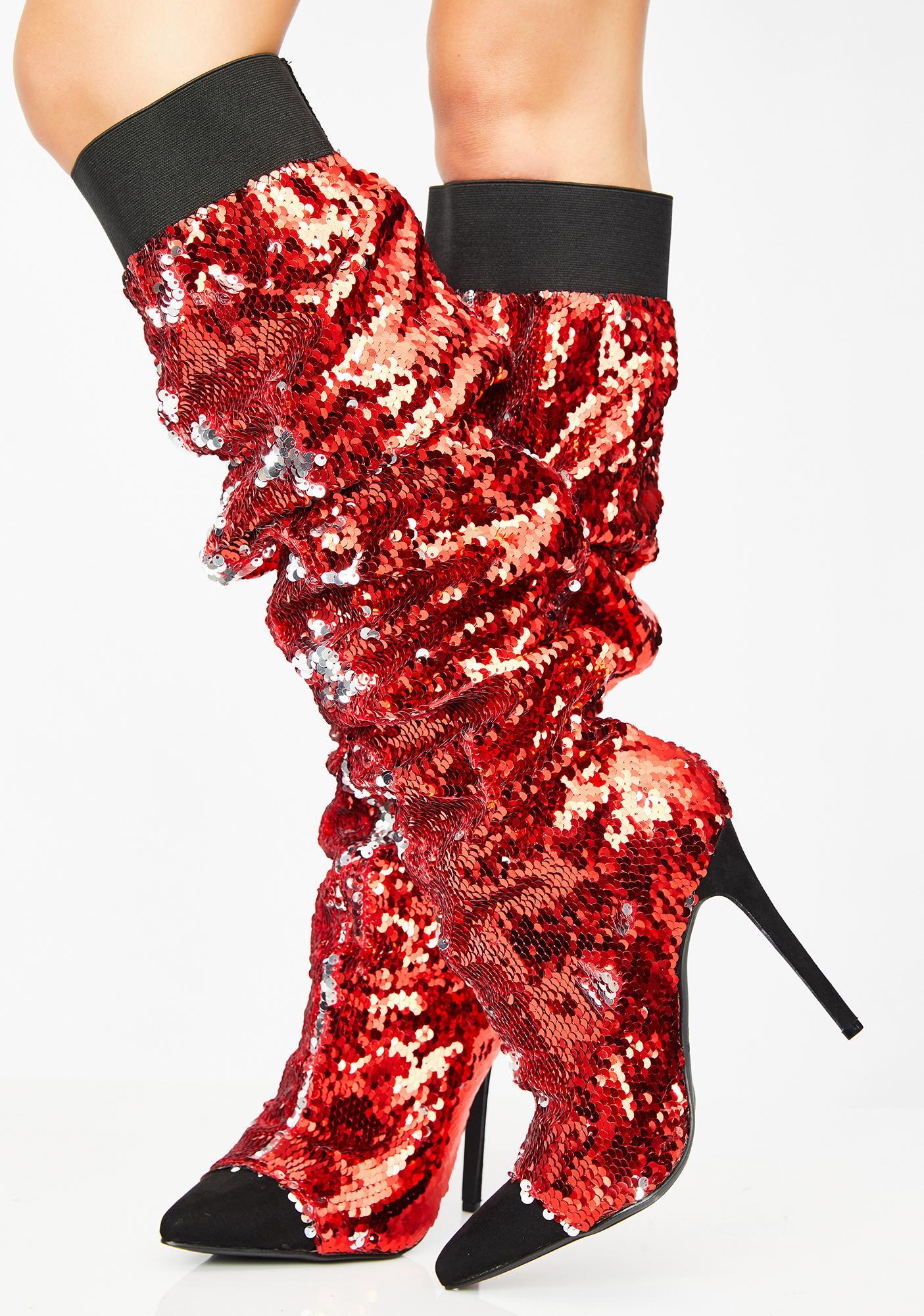 Fire Lavish Living Sequin Boots
