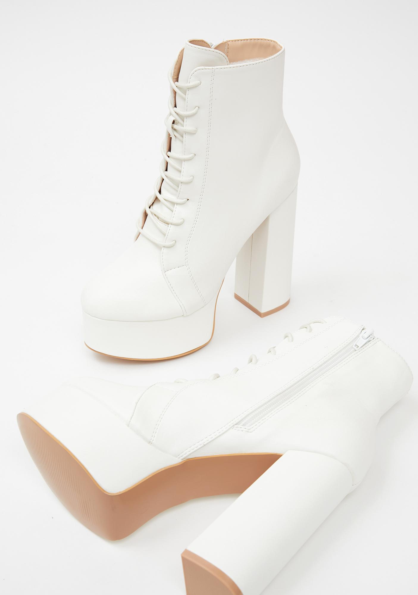 Ivory Femme Flair Platform Boots