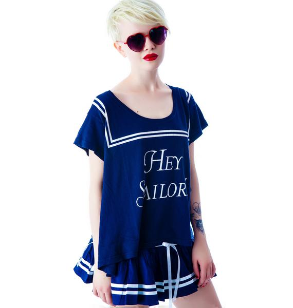 Wildfox Couture Hey Sailor Lazy Weekend T