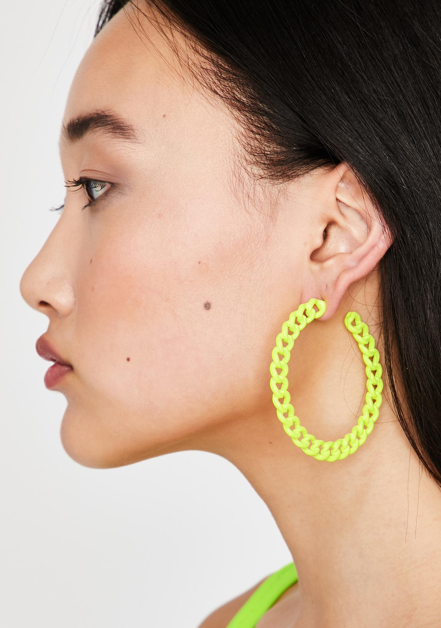 Bodak Chainz N' Thangz Hoop Earrings