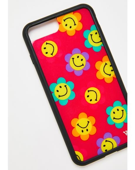 Magenta Smiles iPhone Case