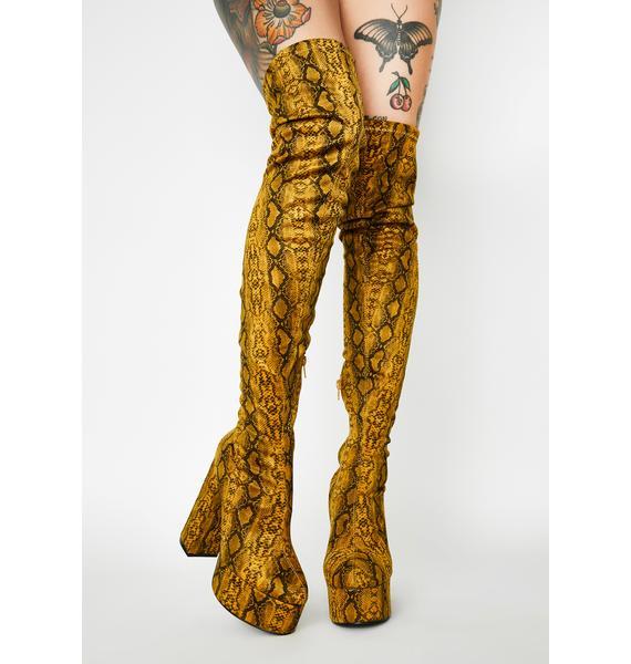 Miss Behave Thigh High Boots