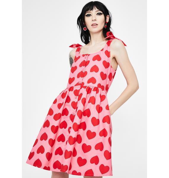 Lazy Oaf Heart Repeat Tie Dress