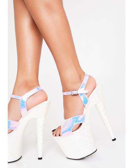 Glitter Unicorn Platform Heels