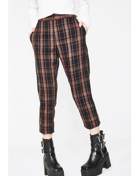 Half Bad Plaid Pants