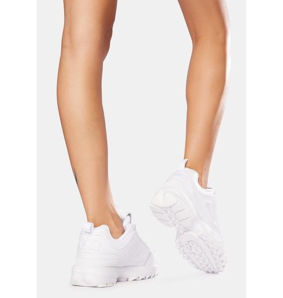 Fila Triple White Disruptor II Premium Sneakers