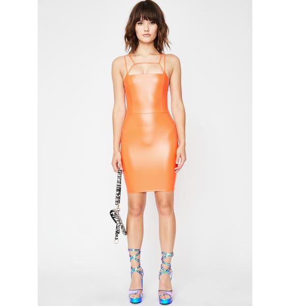 Juicy Bubblegum Femmebot Vinyl Dress
