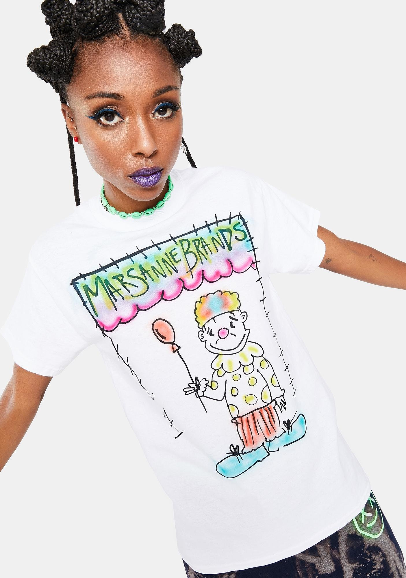 Marsanne Brands Sad Clown Graphic Tee