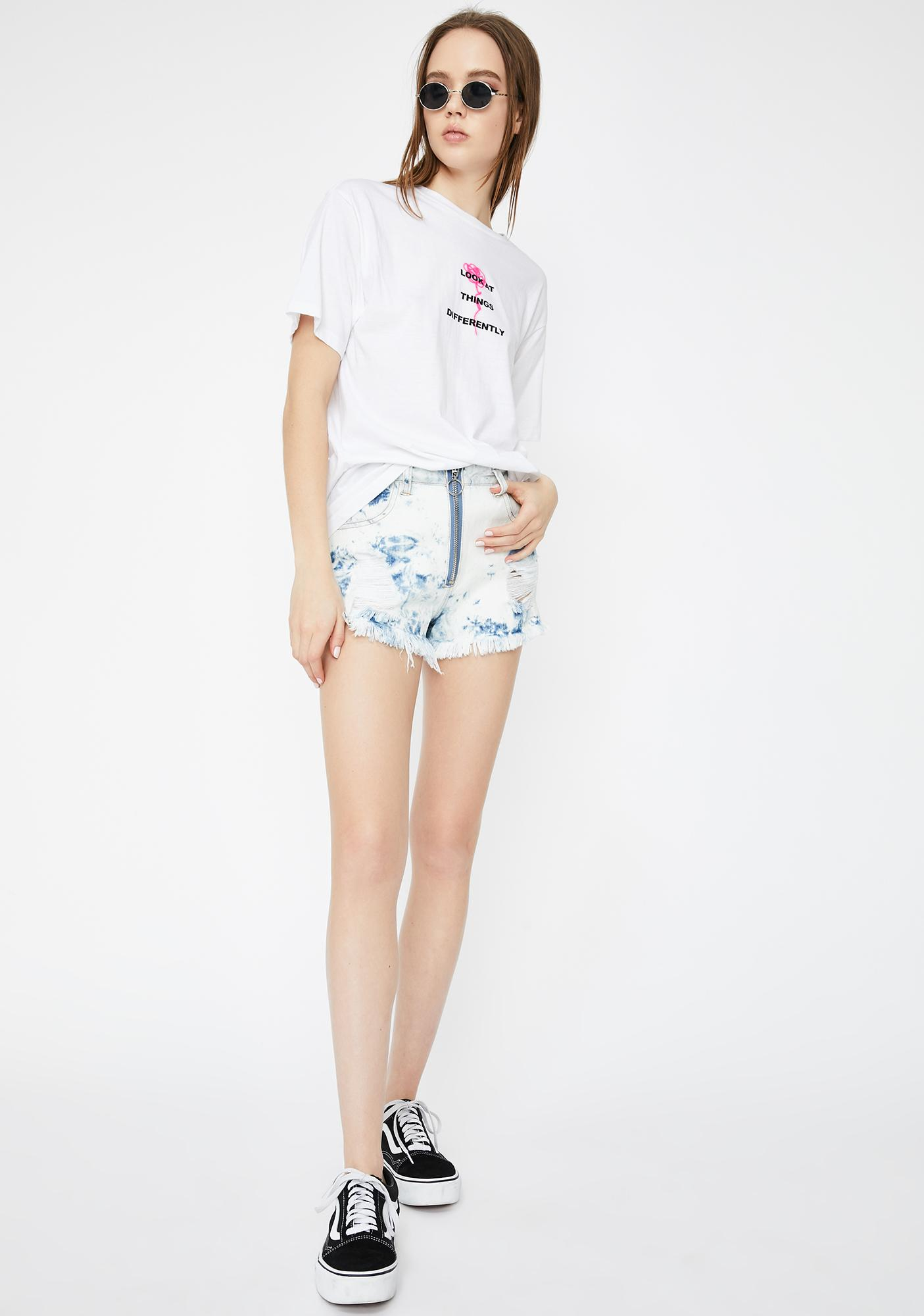 By Samii Ryan White Perspective Graphic Tee