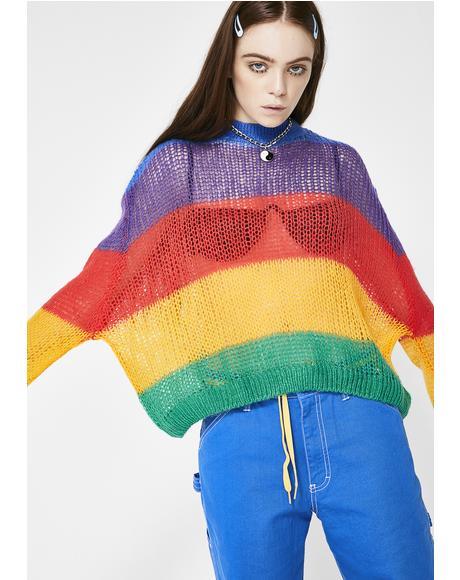 Rainbow Oversized Knit