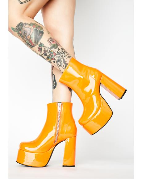 Groovy Delight Platform Boots