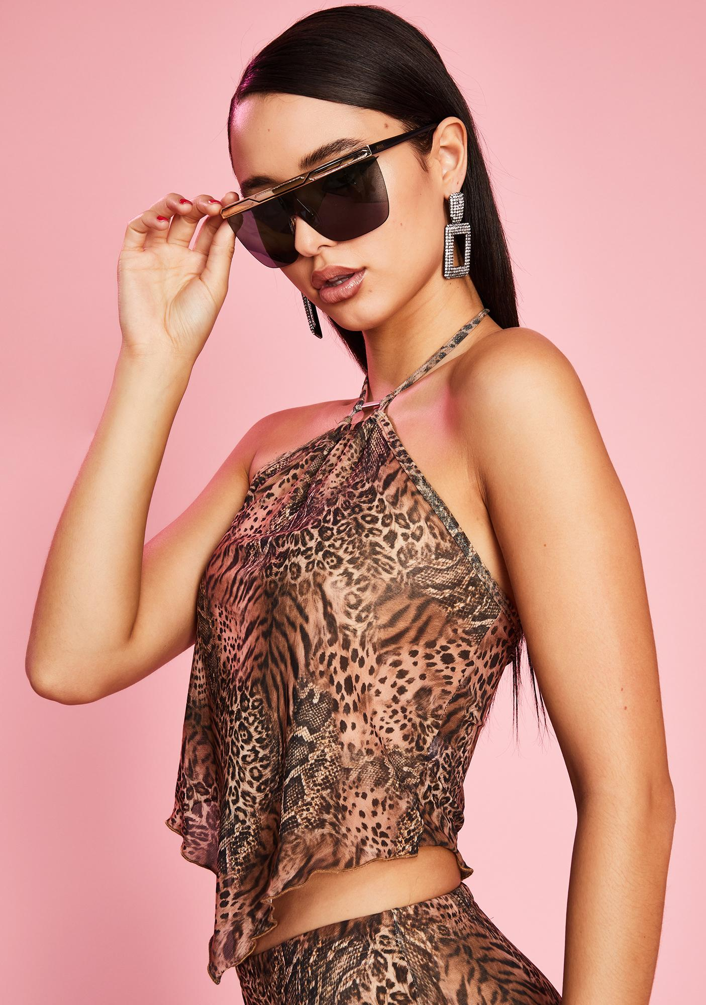 Sugar Thrillz Madame Attitude Leopard Top