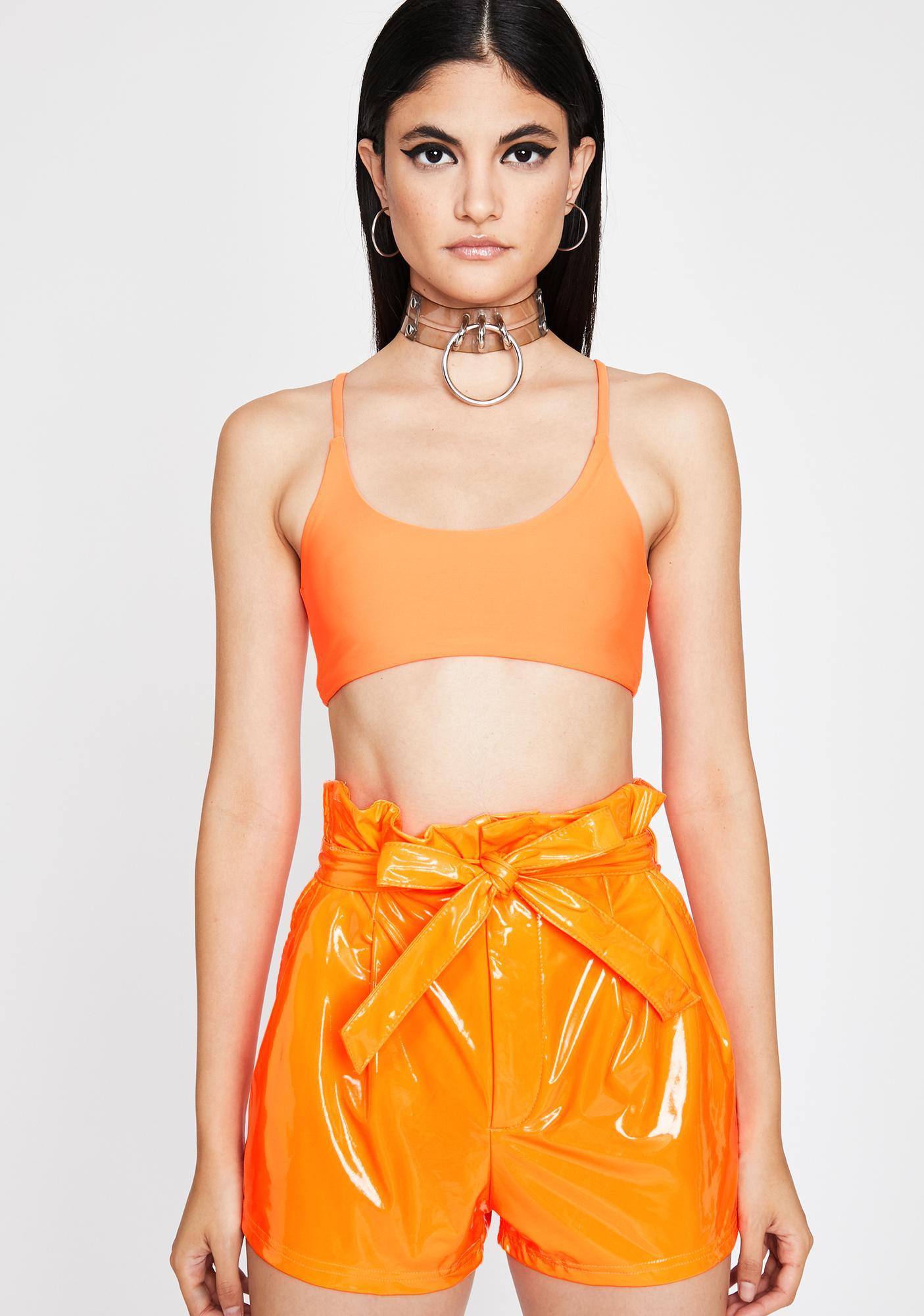 Citrus Candy Wrapper Vinyl Shorts