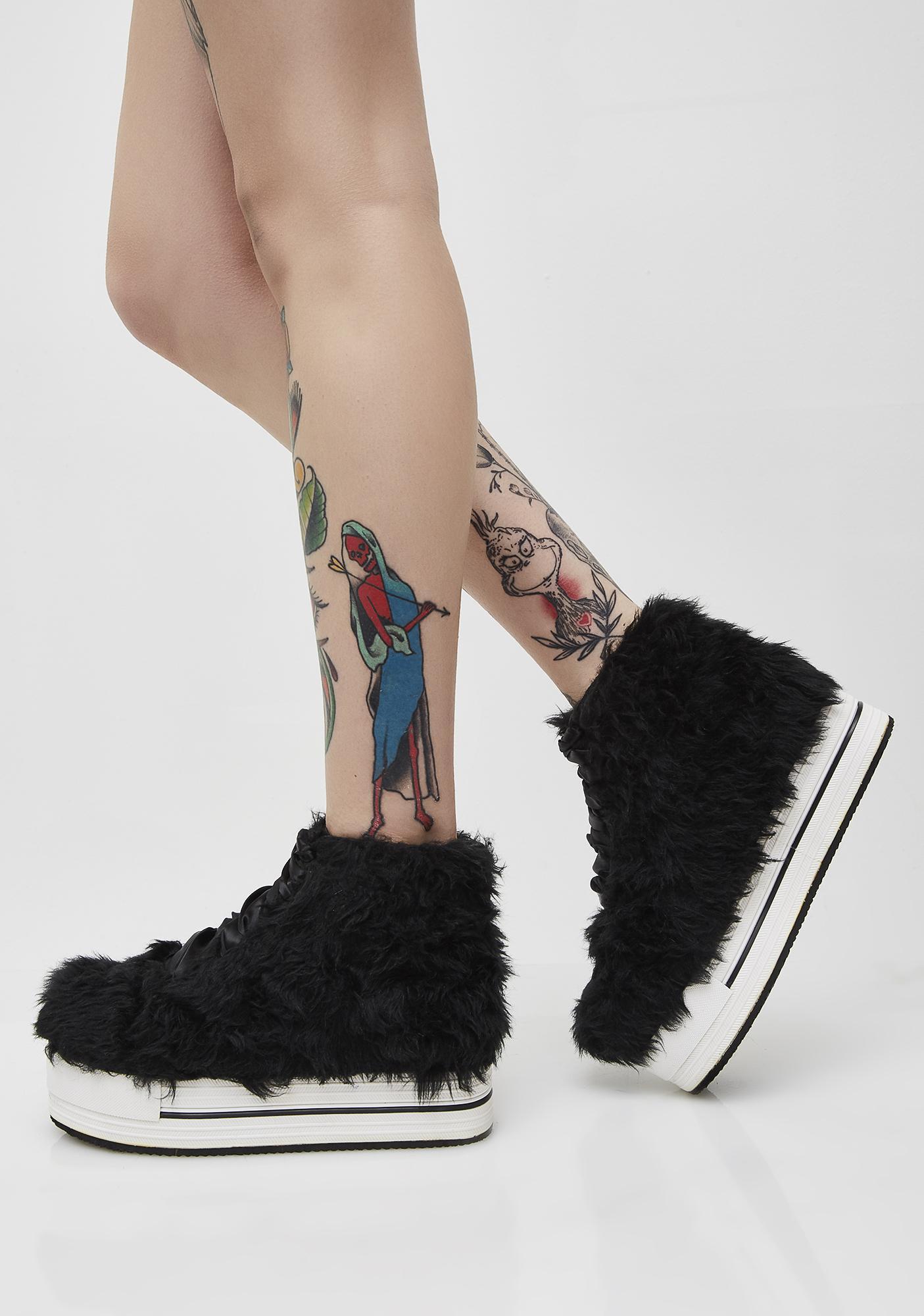 Y.R.U. Elevation Fur Shoes