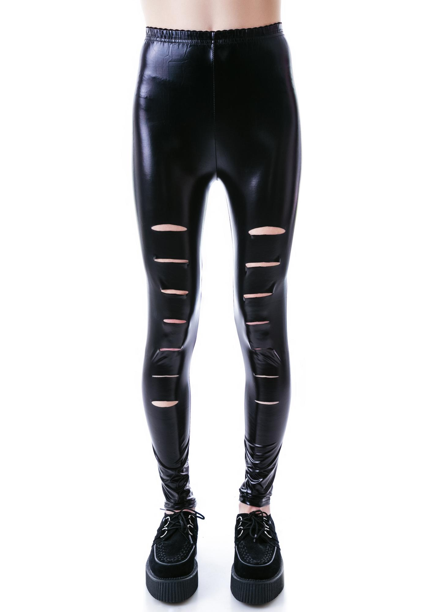 Ripper Leather Leggings