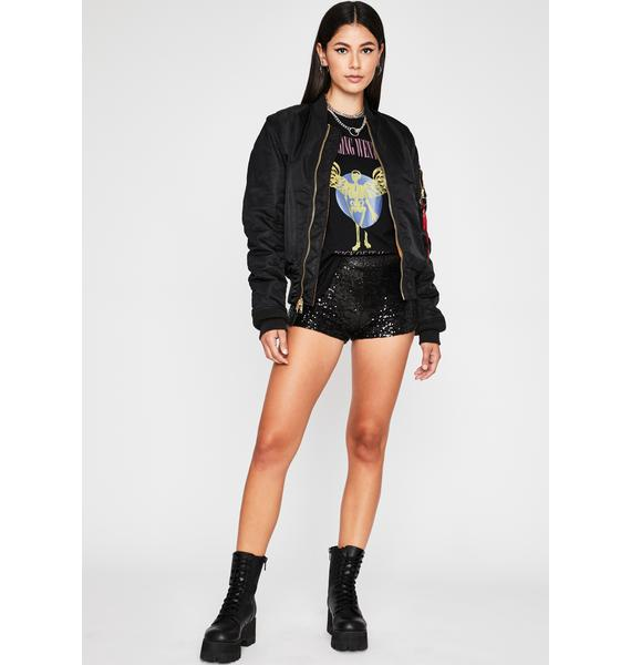 Wicked Dreamy Disco Sequin Shorts