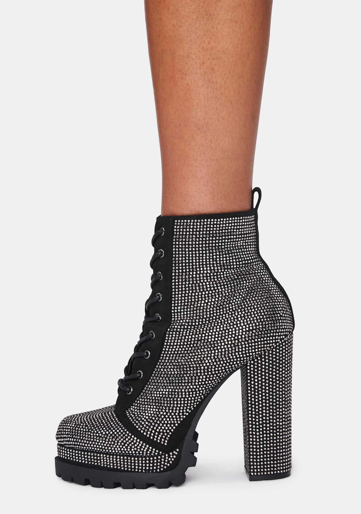 Chromatic Glitz Rhinestone Booties