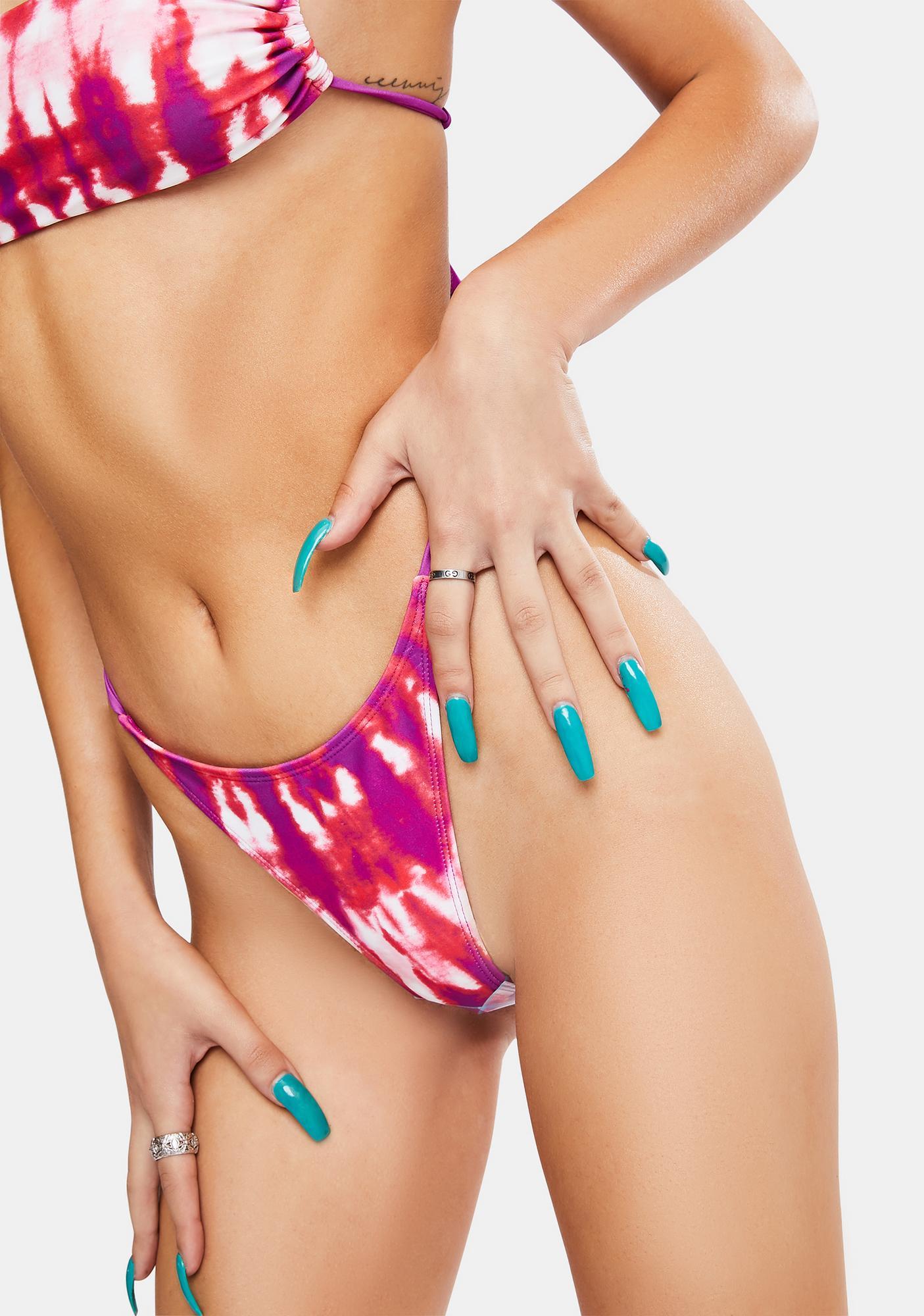 Jaded London Tie Dye Print Micro Bikini Bottoms