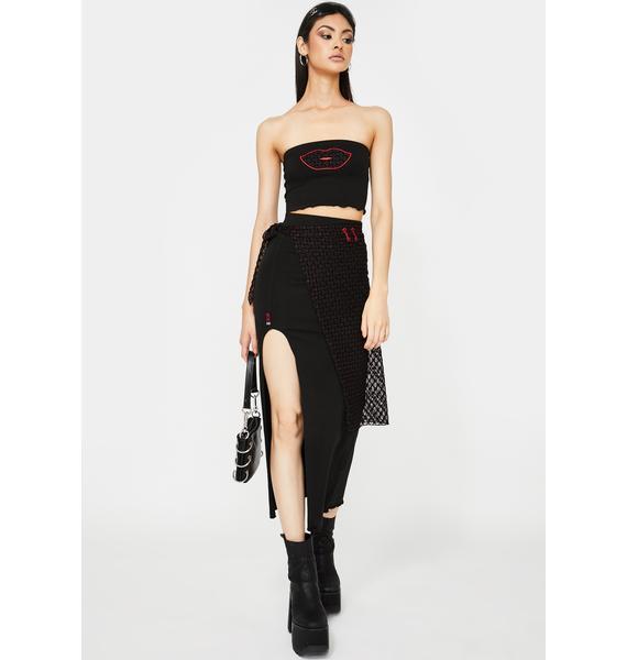 GANGYOUNG Lips 3 Piece Skirt Set