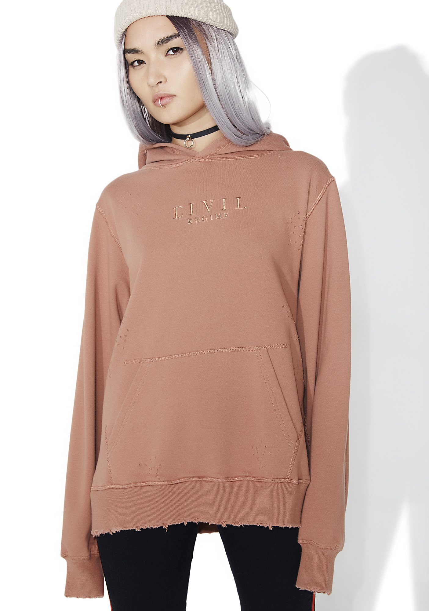 Civil Clothing Blasted Pullover Hoodie