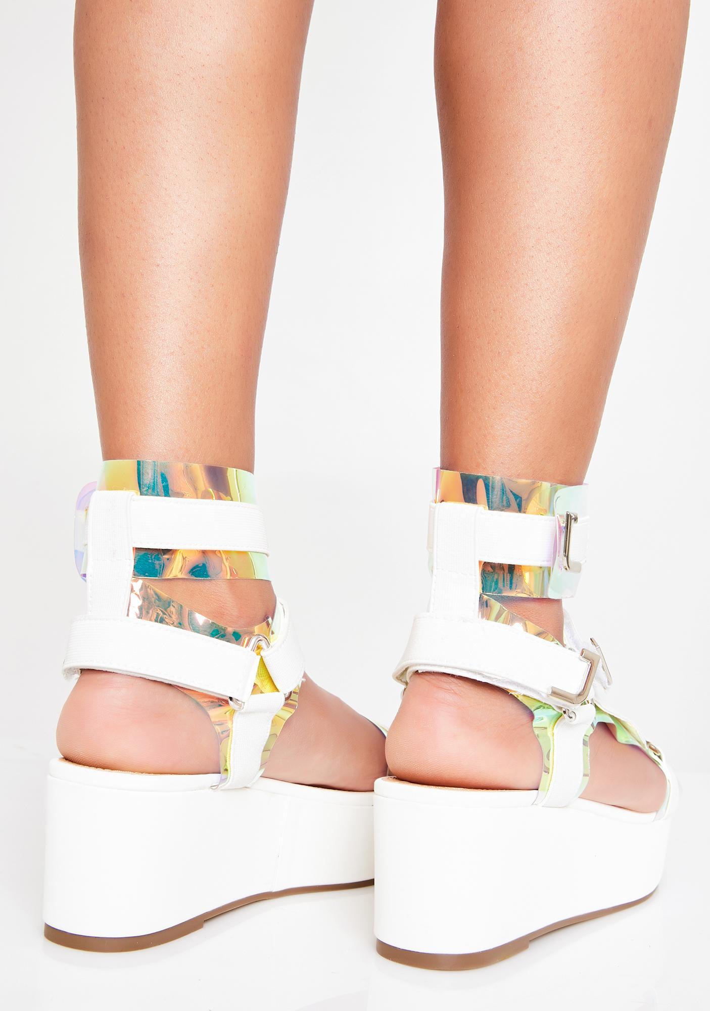 Icy Insta Gossip Platform Sandals