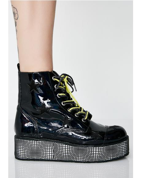 Warped World Platform Boots