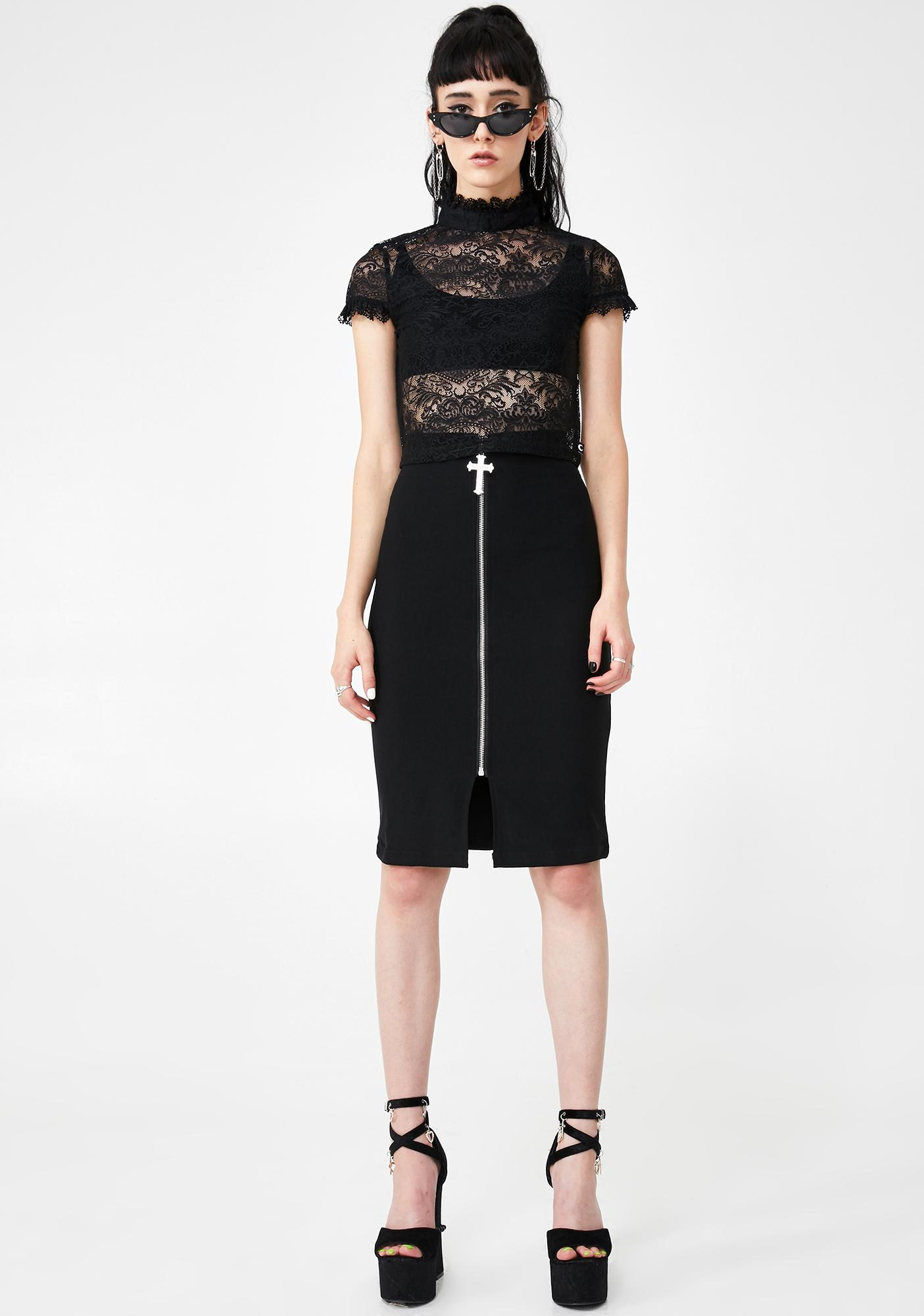 Killstar Ava Lace Crop Top