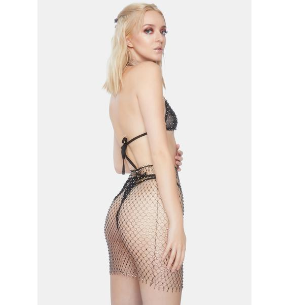 Forplay Drippin In Diamantes Skirt Set