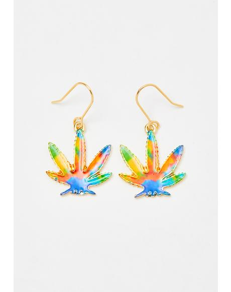 Stay Trippin' Leaf Earrings