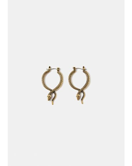 Sneaky Criss Cross Snake Earrings