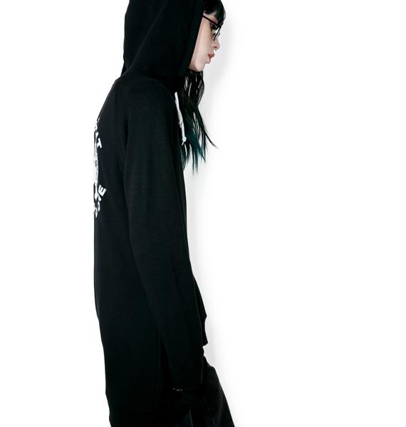 Rebel8 Two Faced Hooded Dress