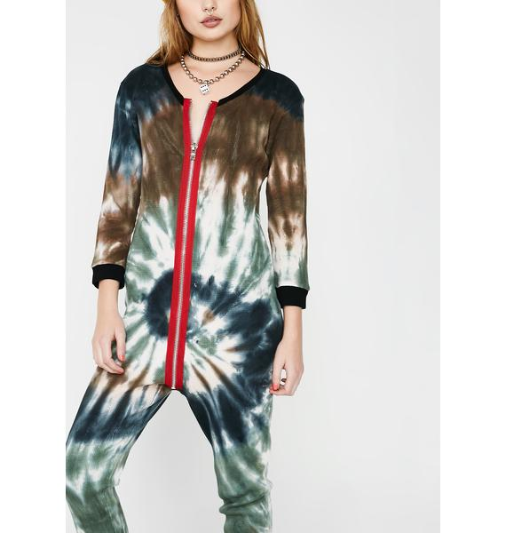 Current Mood Trippin' Out Zip-Up Onesie