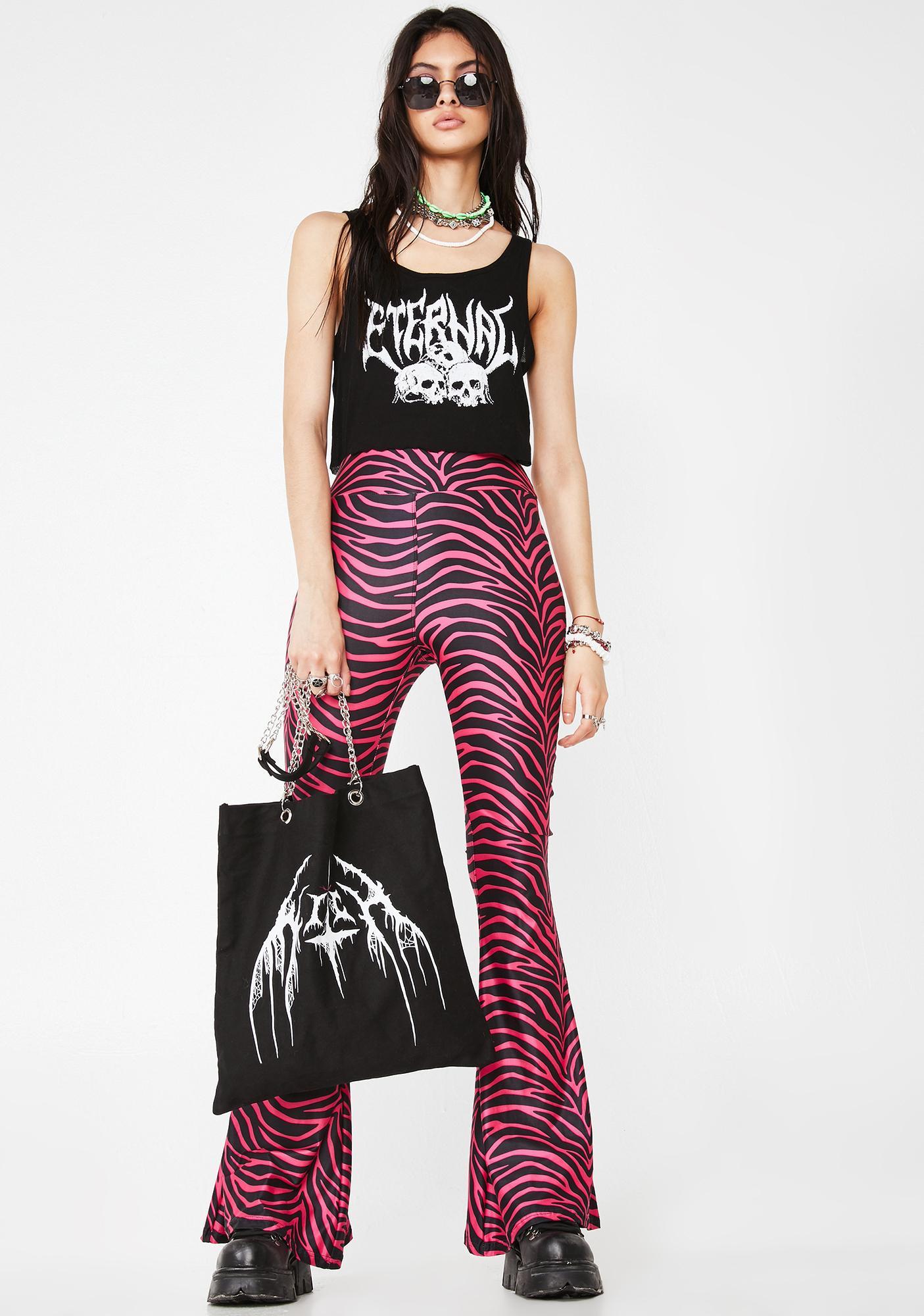 Too Fast Hellz Bellz Diva Doll Zebra Flares