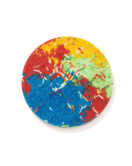 Rainbow Sprinkles Waffle Bath Bomb