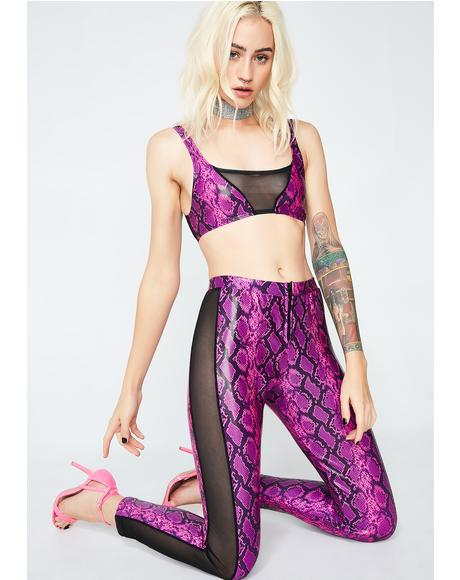 Synth Mesh Pant Set
