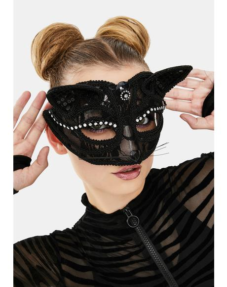 Cat Fancy Masquerade Mask