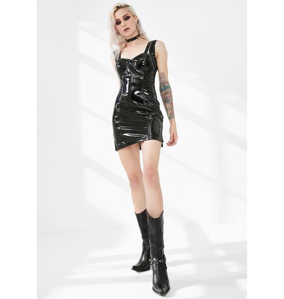 Punk Rave Latexity Bustier Mini Dress